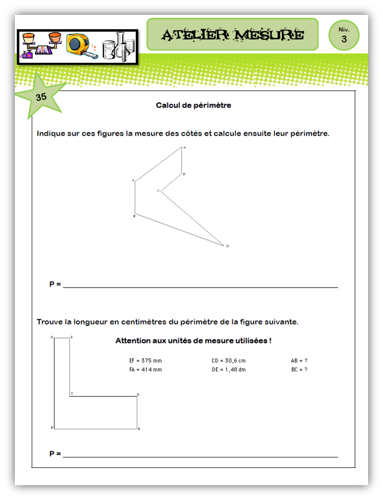 Cm Ateliers Mathematiques Mesure