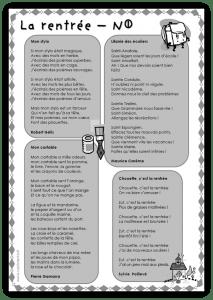 Cm Littérature Recueil De Poésies Par Thèmes