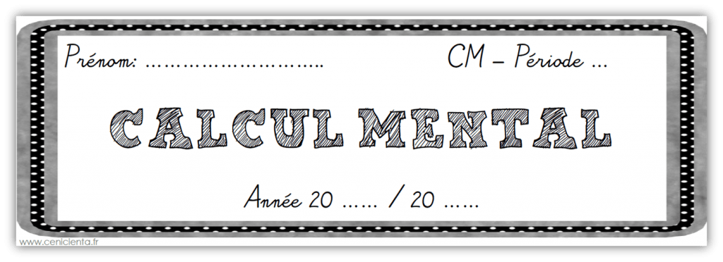 Cm math matiques fichier de calcul mental - Calcul mental table de multiplication ...