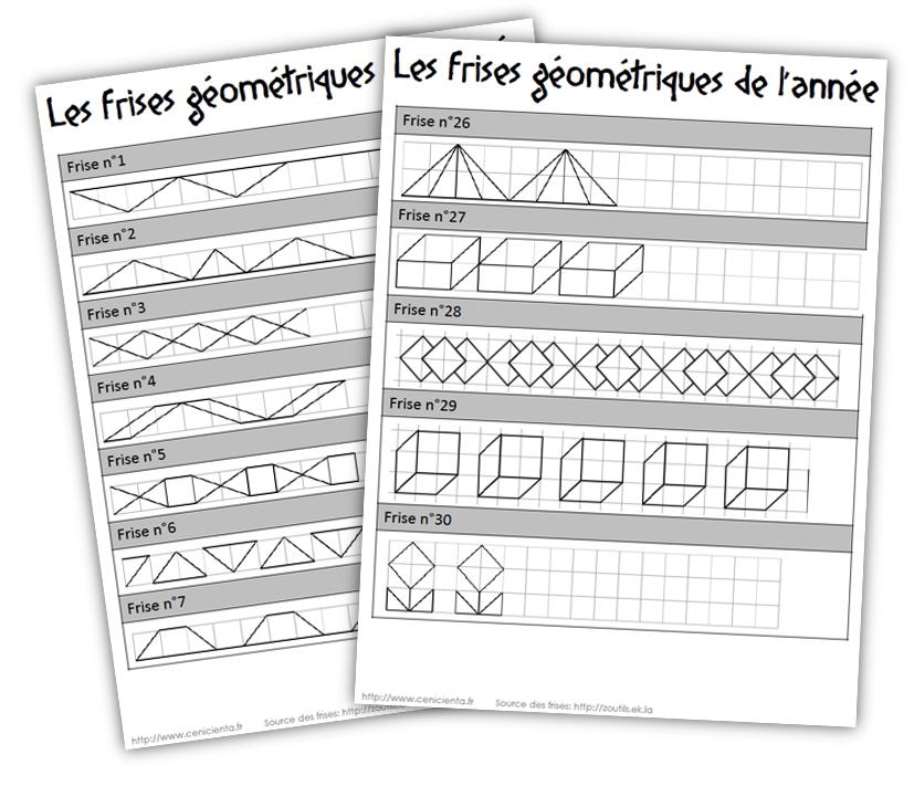 Cycle 3 Mathématiques Frises Géométriques