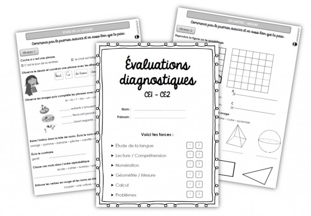 Ce1 ce2 outils evaluations diagnostiques - Evaluation ce2 multiplication a imprimer ...