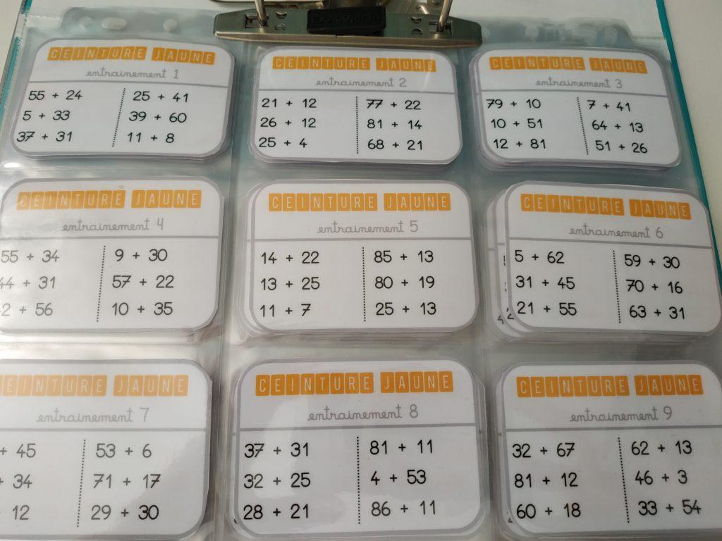 trouver le prix le plus bas sélectionner pour plus récent profitez de la livraison gratuite CE2/CM1 • Mathématiques • Ceintures de calcul posé ~